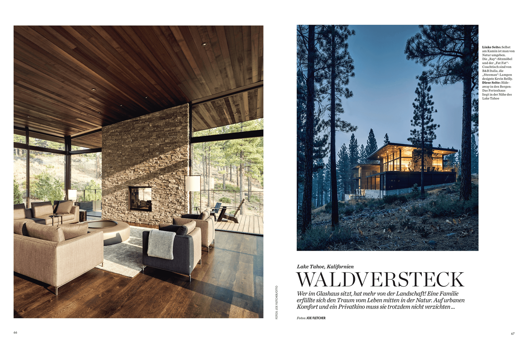 Architektur und Design, Martis Camp House in Lake Tahoe California USA, Architects Leslie and Julie Dowling