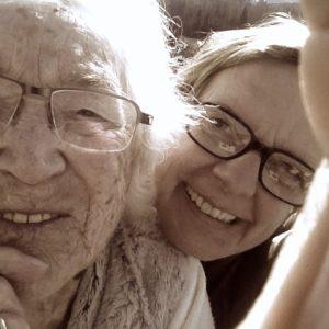 Die 103-jährige Hilde Spitaler und die 49-j#hrige Autorin im Jahr 2016.